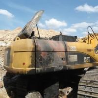 Escavadeira Caterpillar 336DL - Incêndio