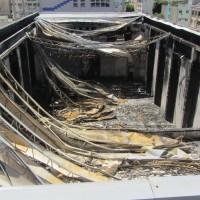 Incêndio com danos estruturais